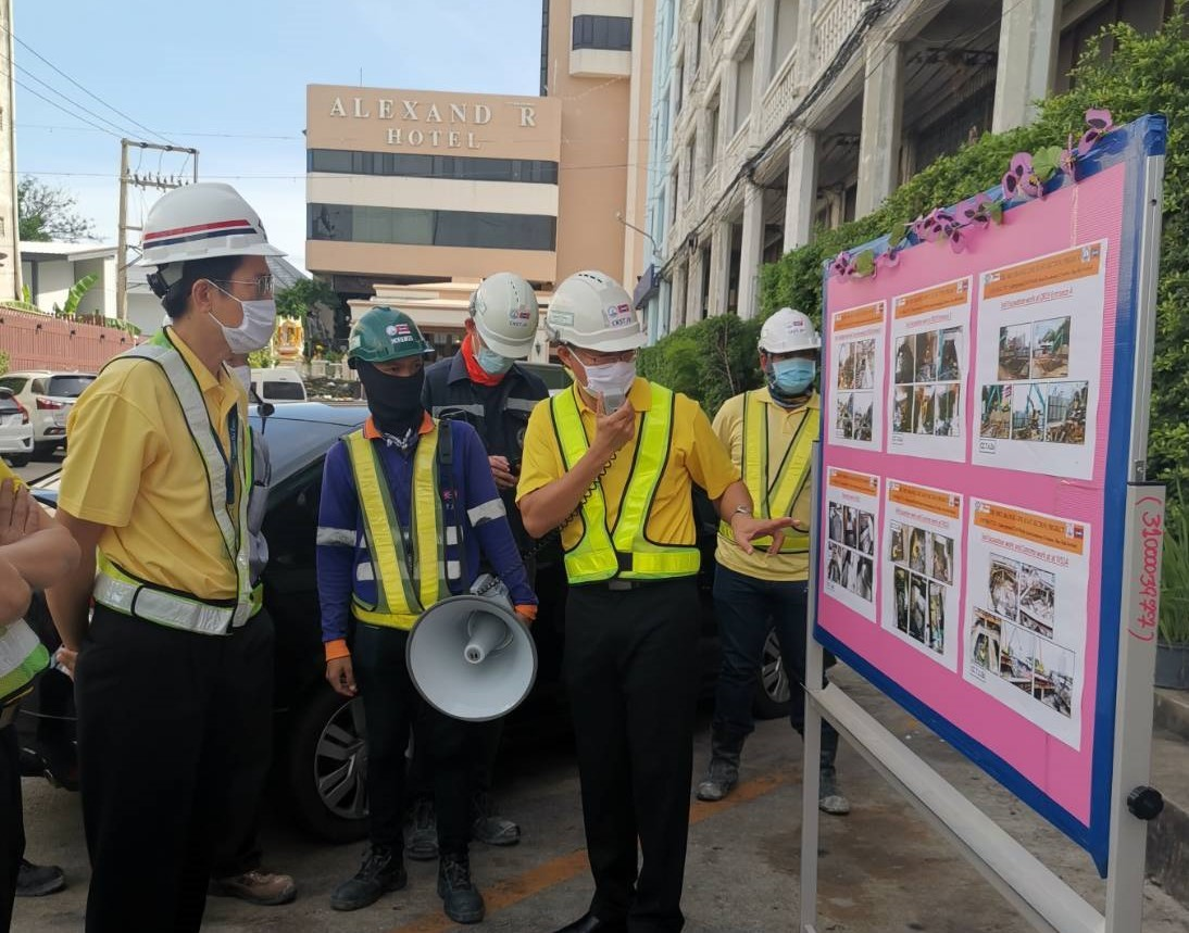 MRTA inspects the MRT Orange Line Project construction progress